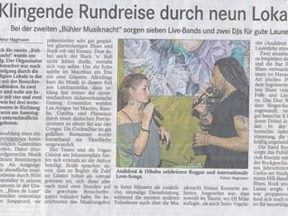 Zeitungsbericht BT: