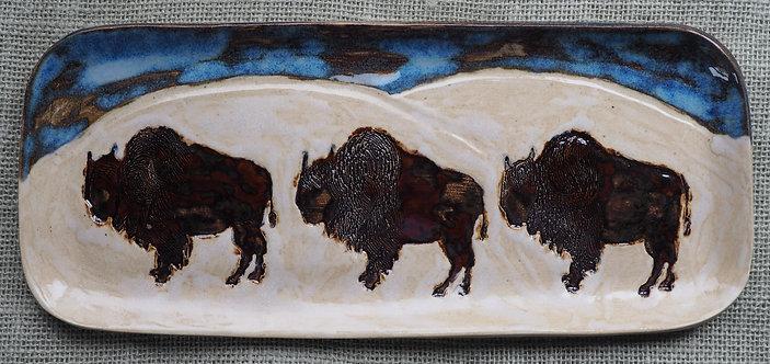 Winter Bison Tray - Medium