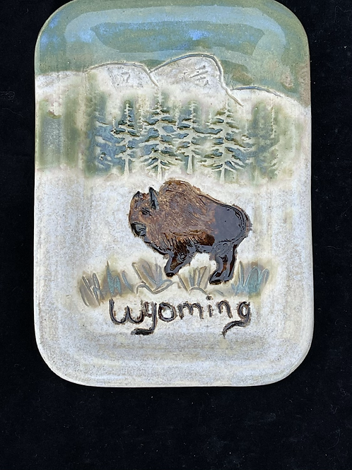 Winter Bison small tray