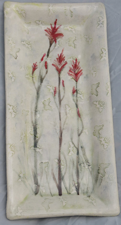 Bees and Butterflies Indian Paintbrush tray