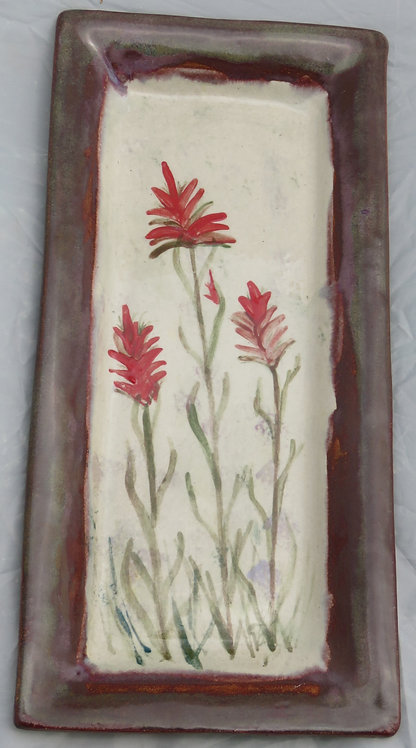 Indian Paintbrush with Mulberry Rim
