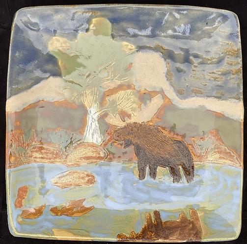 Teton Moose Square Plate