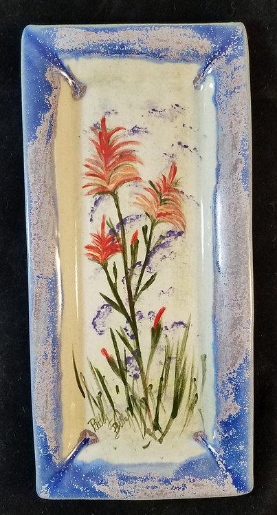 Long Indian Paintbrush Dish