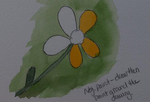 Watercolor Painting - Wildflowers