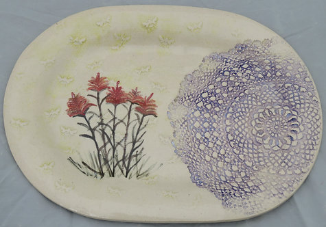 Bees and Indian Paintbrush with Arlene's Doily