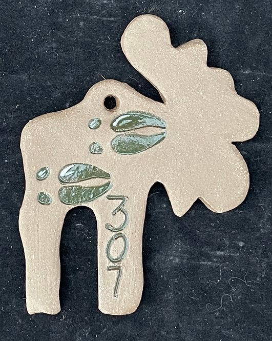 Moose track ornament