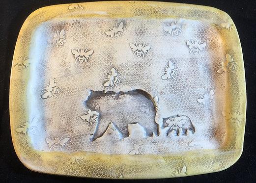 Bear Family in Honeycomb