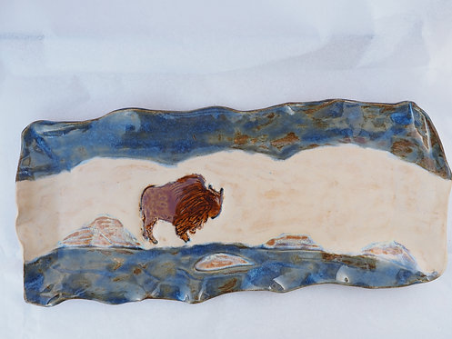 Long Winter Bison Tray