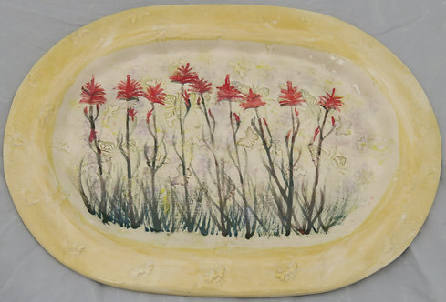 Meadow of Indian Paintbrush Platter