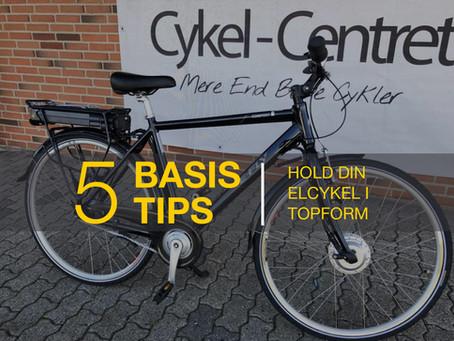 5 basis tips til, hvordan du holder din elcykel i topform.