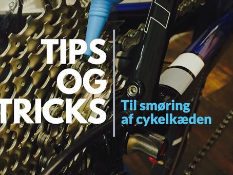Tips og tricks til smøring af cykelkæden.
