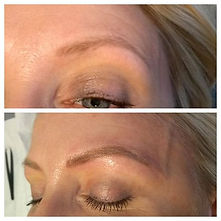 1year Microblading top up. #blondebrows