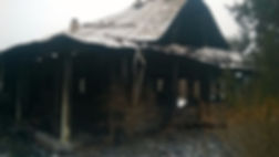 Снос горелого дома.Демонтаж дома после п