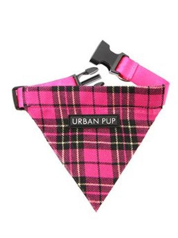 Urban Pup Fuchsia Pink Tartan Bandana