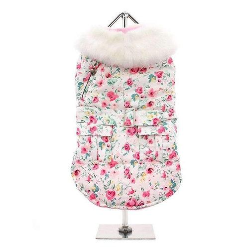 Urban Pup Flora Cascade Quilted Coat
