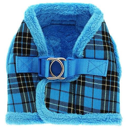 Urban Pup Blue Padded Tartan Harness