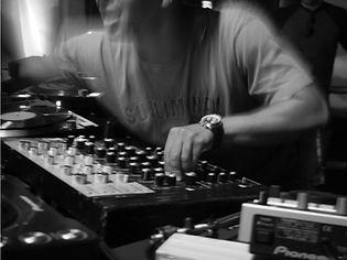 DJ Mixing B & W