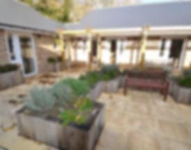 Hartley House Care Home Cranbrook Courtyard