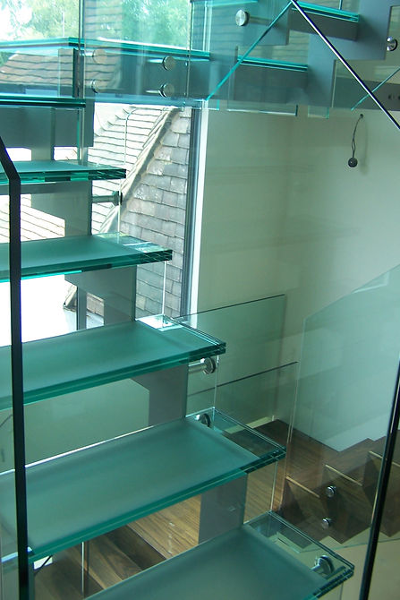 Wildernesse Renovation Glass Staircase