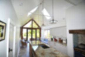 Glazed gable and open vaulted ceiling