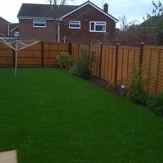 Fitted Garden Fence