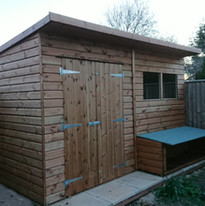 Shed with Rabbit Hutch