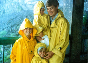 Maid of the Mist: Under Niagara Falls, Canada with Steve's Children