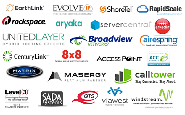 Partial list of Nadicent Technologies Infrastructure as a Service Suppliers