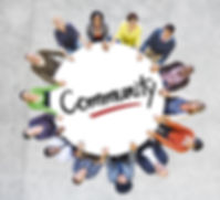 Diverse People in a Circle with Communit