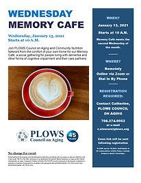 January 13 2021 Memory Cafe with Coffee