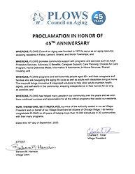 PLOWS 45th Proclamation Chicago Ridge1.j