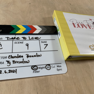 We were eqipped with the clapperboard and script.