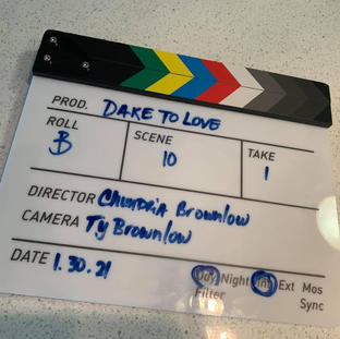 #SetLife w/ our 'Dare To Love' clapperboard