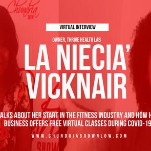 La Niecia' Vicknair Talks About her Fitness Business, Thrive Health Lab