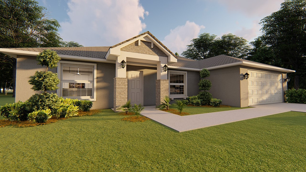 Plans of Facade of Single Family model to be built