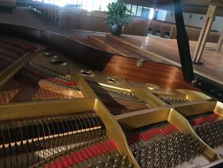 Piano restoration work on Yamaha C3