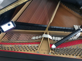 Piano restoration work on Steinway M