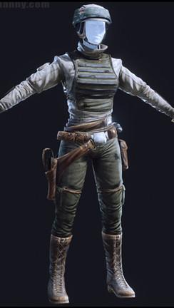 Female Rebel Trooper