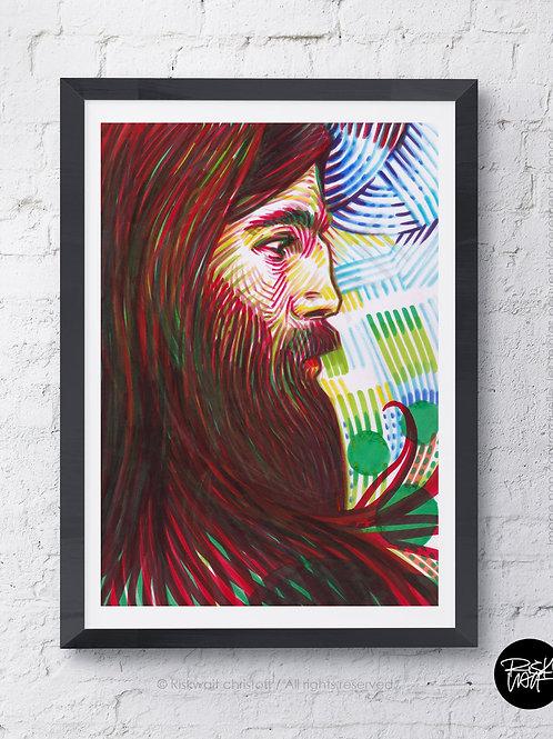 Portrait Colors n°2 - La barbe Rousse