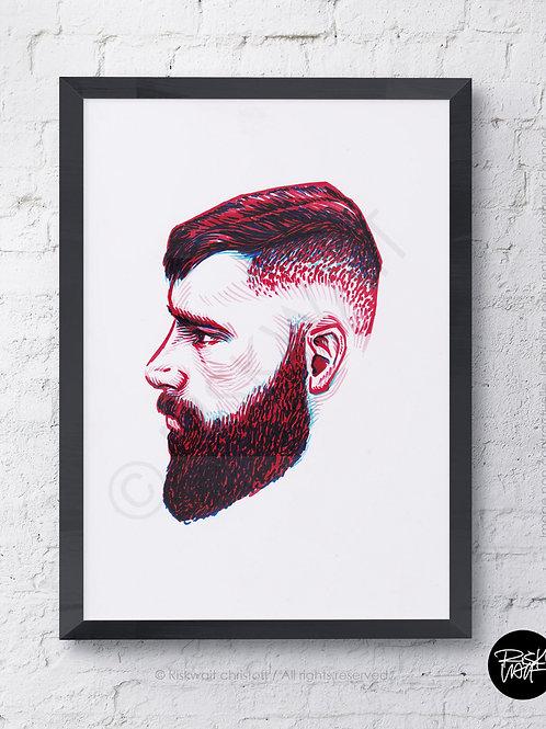 Portrait Colors n°12 - Profil rouge 1