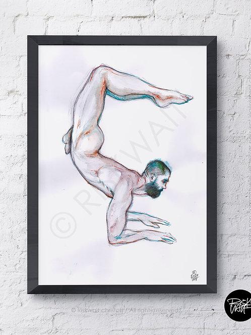 Portrait Colors n° 21 - NU acrobate 1