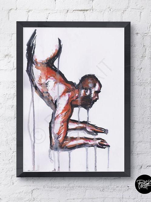 Portrait Colors n° 22 - NU acrobate 2