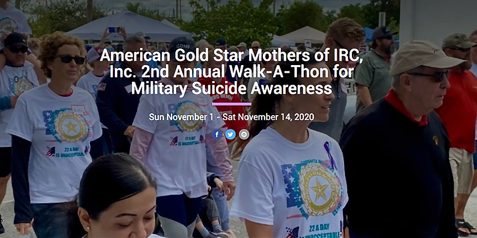 American Gold Star Mother's 2nd Annual Walk-a-Thon
