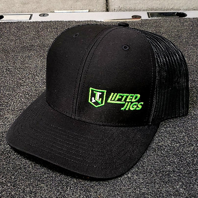 Lifted Jigs Logo Black Hat