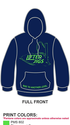 "Lifted Jigs ""Rise to Another Level"" Performance Hoodie"