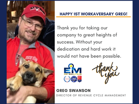 Happy 1st Work Anniversary Greg!