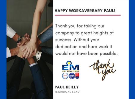 Happy 1 Year Workaversary Paul!