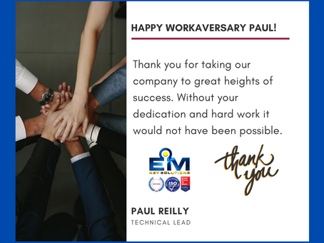 Happy 1 Year Workaversary Paul!