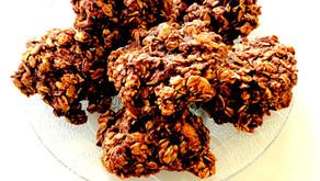 Choco-Banana Oat Cookies (gluten free, dairy free, nut free, soy free, egg free, refined sugar free)
