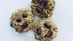 Oatmeal Chocolate Chunk Cookies (gluten free, dairy free)